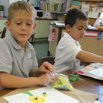 "1st Grader's Creativity Blooms with the ""Flowers"" Lesson from the Art Docent Program"