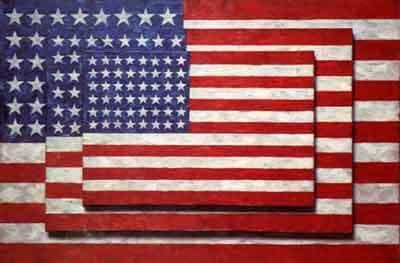 """Three Flags,"" by Jasper Johns, 1958"