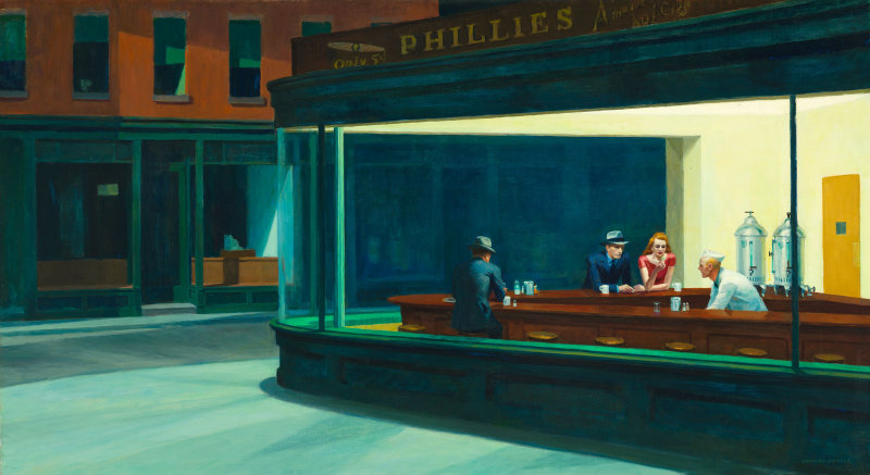 """Nighthawks"" by Edward Hopper, 1942."