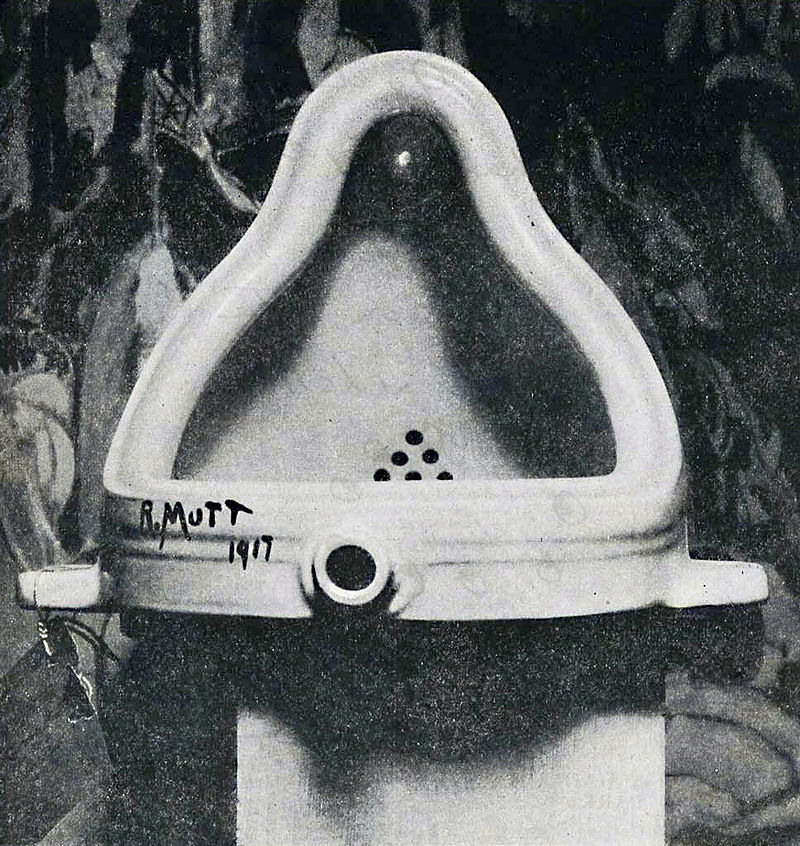 """Fountain"" by Marcel Duchamp, 1917."