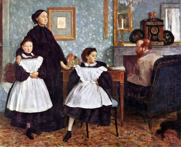 """The Bellelli Family,"" by Degas. 1858-1860."