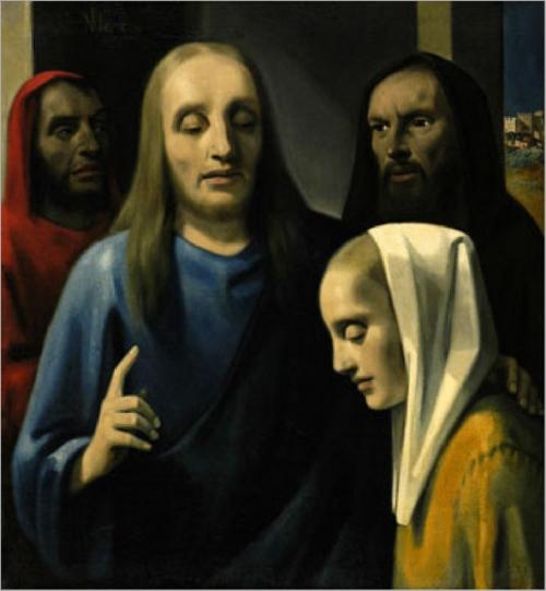 christ-adulteress