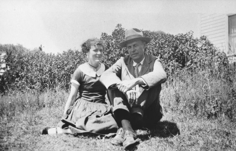 Jo and Ed Hopper, 1927. Courtesy Hopper's Vermont.