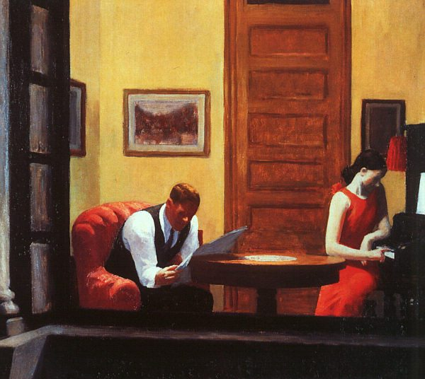 """Room in New York,"" by Edward Hopper, 1932."