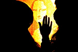 """Mona Lisa - Joconde"" by Scratch Adelia, original by Leonardo da Vinci."