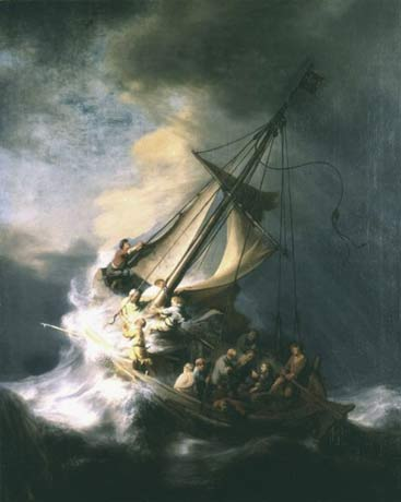 """The Storm on the Sea of Galilee,"" by Rembrandt (1663)."