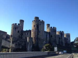 A view of Conwy Castle today.