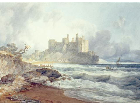 From left to right, Turner's Conwy paintings from 1798, 1800 and 1803.