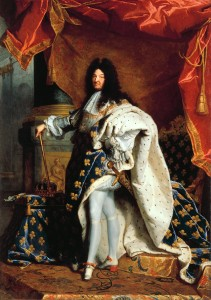 Hyacinthe Rigaud's portrait of Louis XIV of France (c/o Wikipedia)