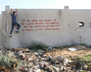 Banksy's new pieces in Gaza are calling the world to action