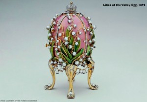 Lilies of the Valley egg, 1898. c/o faberge.com and the Forbes Collection