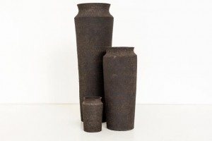 Vases made from radioactive sludge by Unknown Fields c/o fasttocreate.com