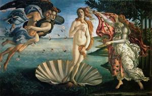 """Botticelli's """"Birth of Venus"""" (c/o uffizi.org)"""