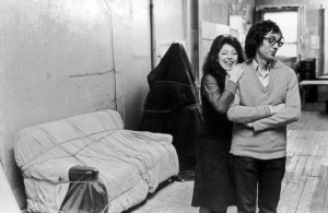 Christo and Jeanne-Claude in their New York apartment, 1976. c/o christoandjeanne-claude.net (Photo by Fred W. McDarrah/Getty Images)