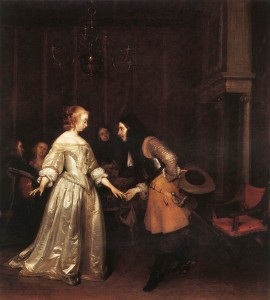 "ter Borch's ""Dancing Couple"""