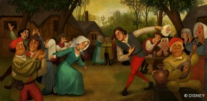 "Fig. 1.2 The first painting Anna sees in ""First Time in Forever,"" which looks notoriously like Bruegel's, c/o Disney"
