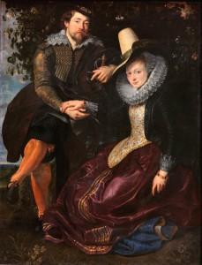 "Peter Paul Rubens' ""Self-Portrait with Isabella Brandt,"" 1610. c/o wikipedia"