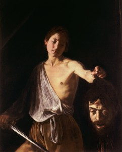 """""""David with the Head of Goliath,"""" 1610"""