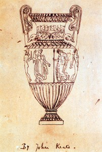 Keats' sketch of a Grecian urn, c/o Wikipedia