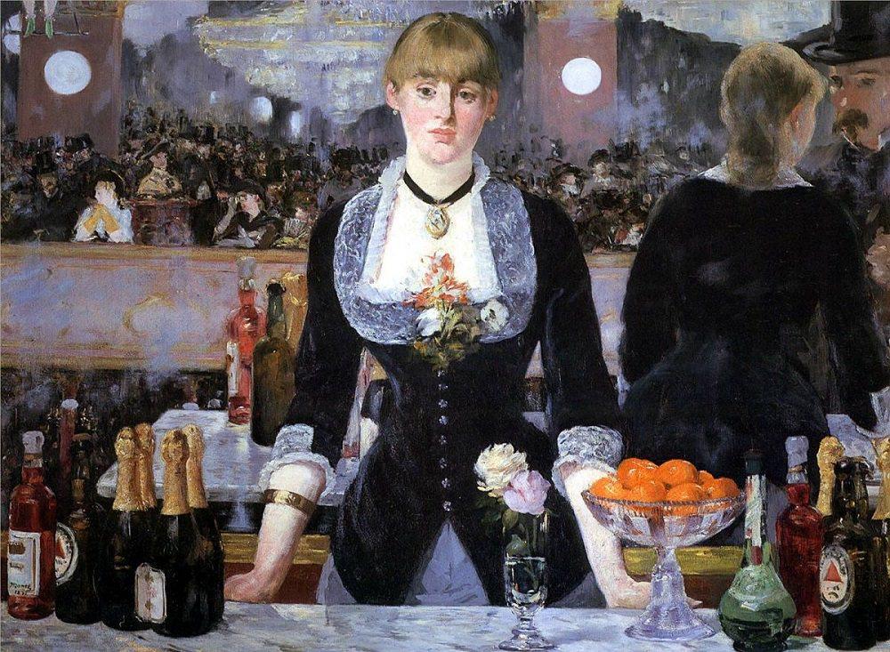 "Manet's ""A Bar at the Folies-Bergère,"" 1882. c/o manet.org"