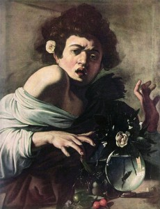 "Caravaggio, ""Boy Bitten by a Lizard,"" 1593-94. c/o wikipedia"