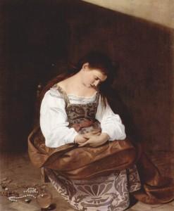 """Caravaggio, """"Penitent Magdalene,"""" 1595. c/o wikipedia"""