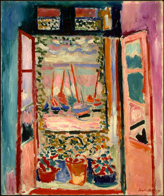 "Matisse's ""The Open WIndow,"" painted along the French Riviera. c/o wikimedia.org"