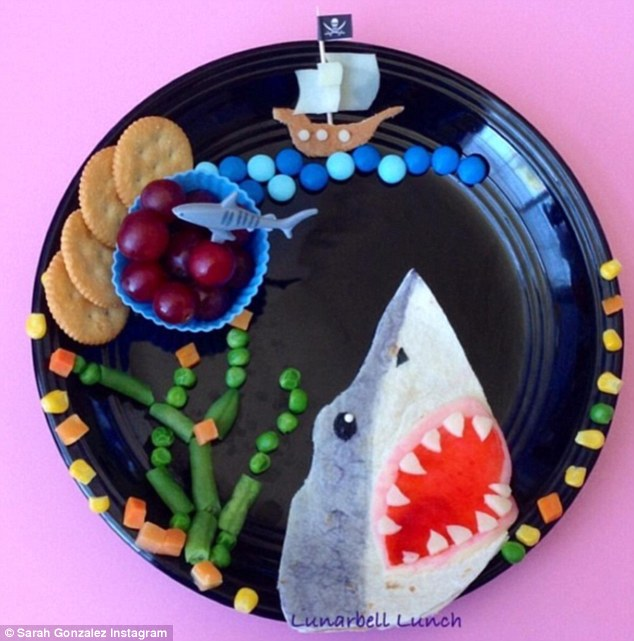 One of Sarah Gonzalez's fun lunches. Photo c/o The Daily Mail, Instagram user lunarbell_lunch
