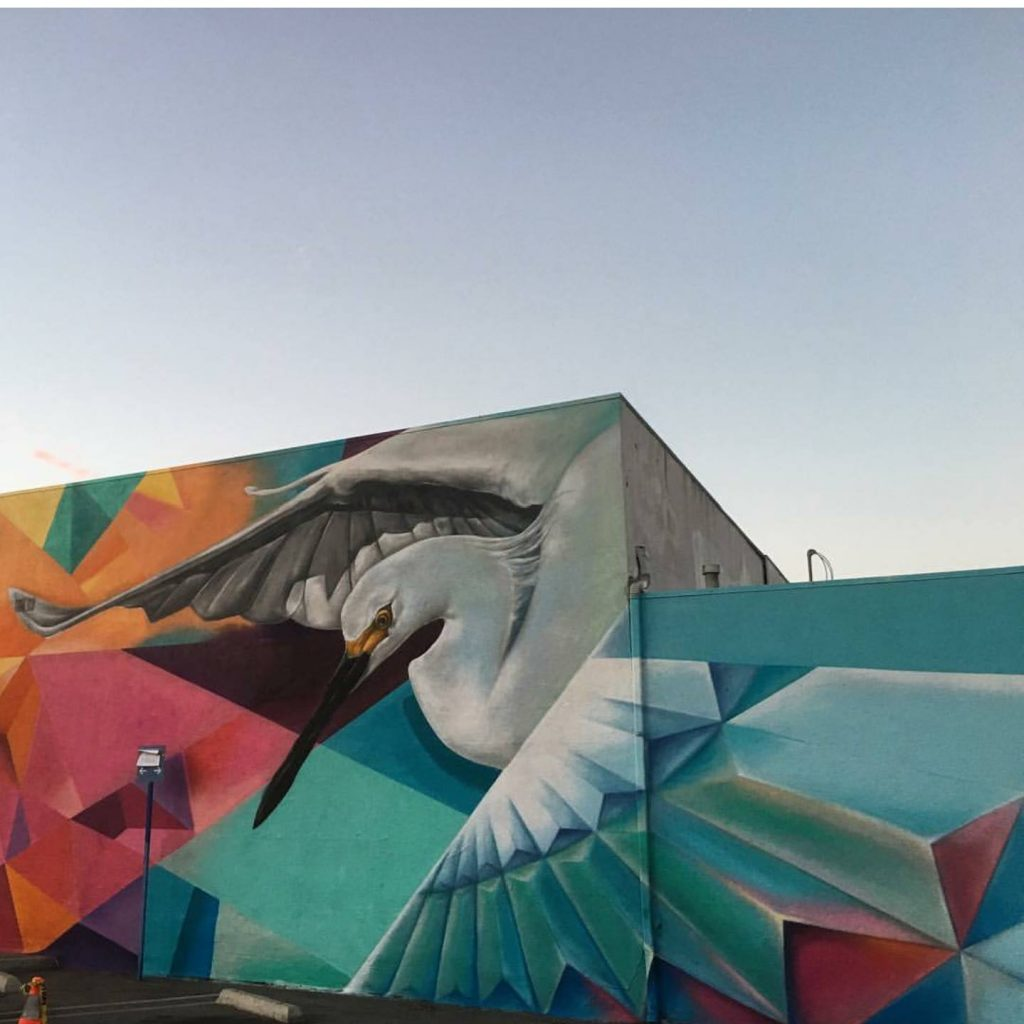 Artist Haste (aka The Wolf Counsel to social media) is featured at Outside Lands this year. This mural, a collaboration with DJ NEFF, hints at what's to come at this year's festival. Image c/o Instagram user @thewolfcounsel.
