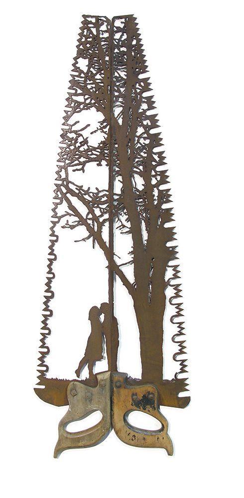 Dan Rawlings' Ya'aburnee is made from a saw. Image c/o Mashable and Dan Rawlings.