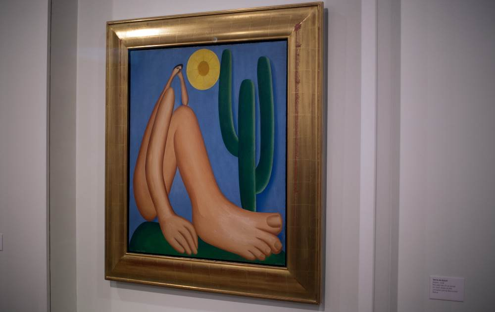 Tarsila do Amaral's Abaporu makes its triumphant return to Brazil--if only until the end of the month. Image c/o Rio 2016/André Naddeo.