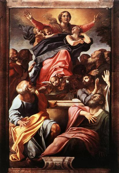 Annibale Carracci's Assumption of the Virgin. Image c/o Wikiart.