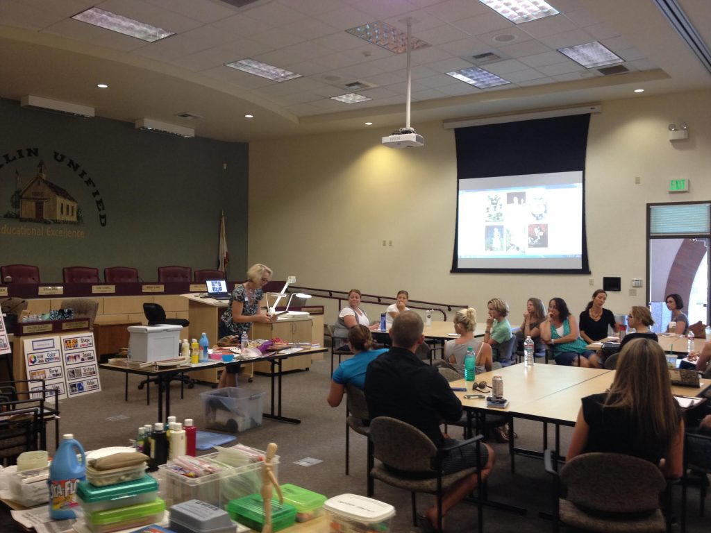 Amy leading training at the September 7 training. Image c/o Amy Scherschligt and Heidi Grasty.