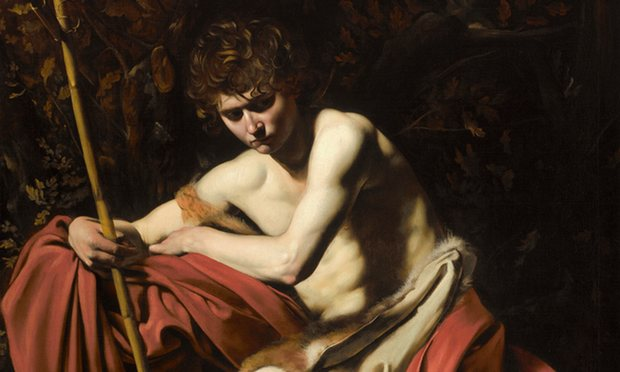 Caravaggio's St. John the Baptist in the Wilderness is featured in the National Gallery's Beyond Caravaggio. Image by Jamison Miller. Image c/o The Nelson Atkins Museum of Art Kansas City, The Guardian.