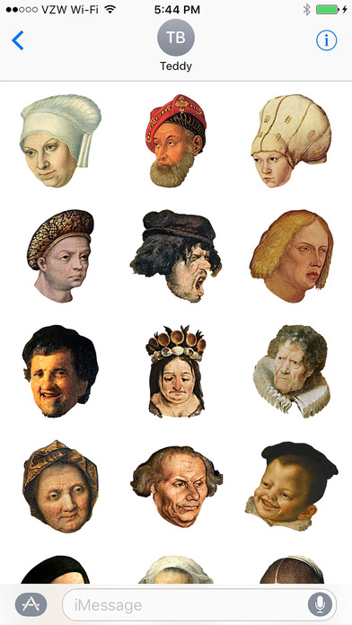 They're here! They're here! Art history emojis for all. Image c/o Rejoinders, iTunes.