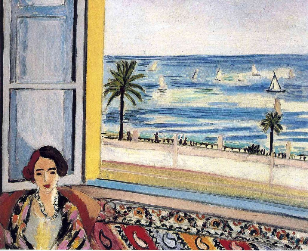 Seated Woman, Back Turned to the Open Window, Matisse, 1922.