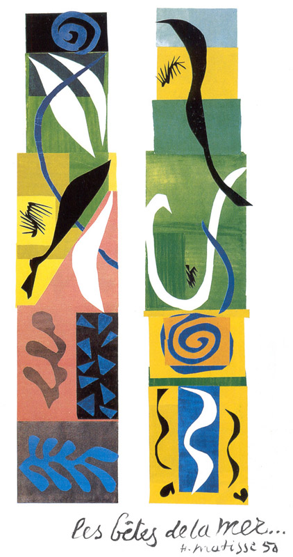 Beasts Of The Sea, Matisse, 1950.
