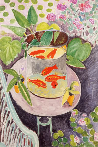 Still Life with Goldfish, Henri Matisse, 1911.