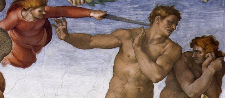 Michelangelo's Expulsion From Paradise
