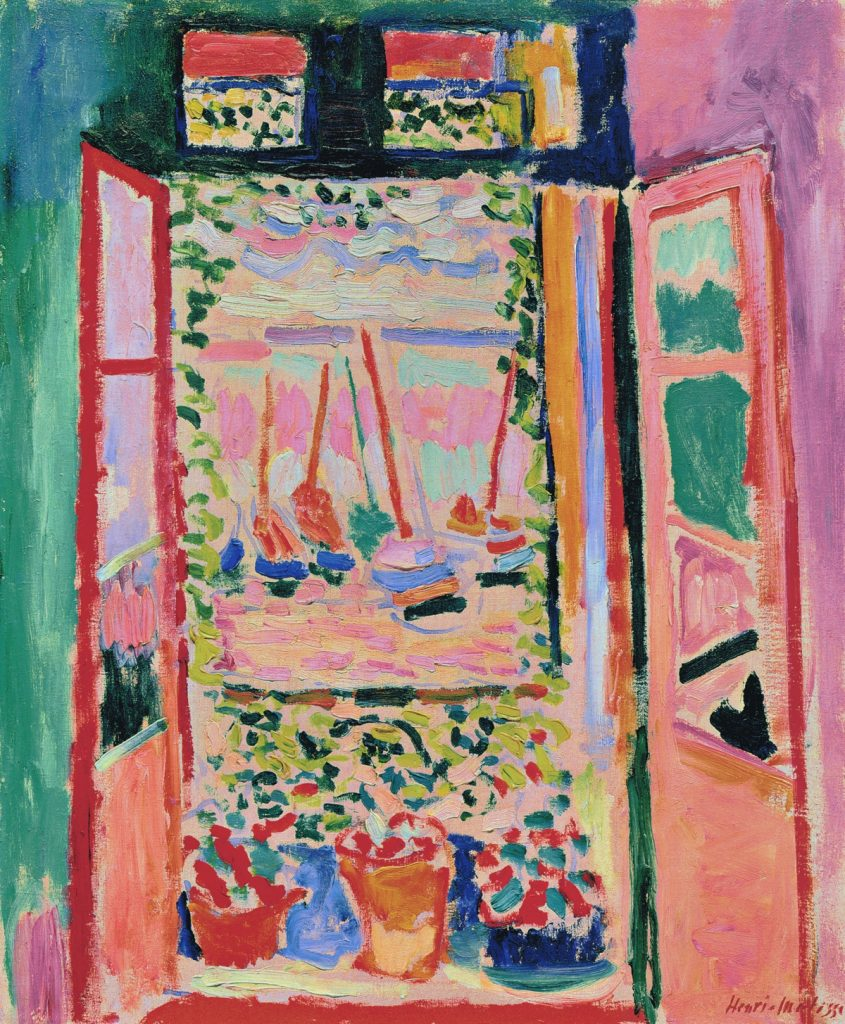 The Open Window, Matisse, 1905.
