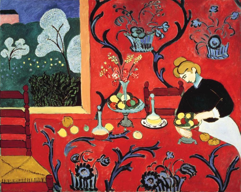 Harmony in Red (The Dessert), Matisse, 1908.