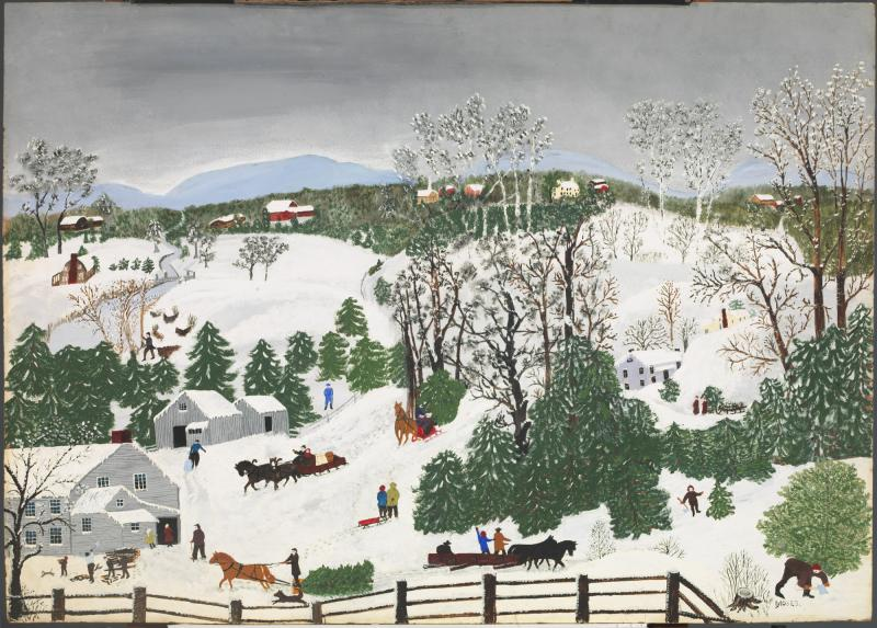 Out for Christmas Trees Grandma Moses Smithsonian