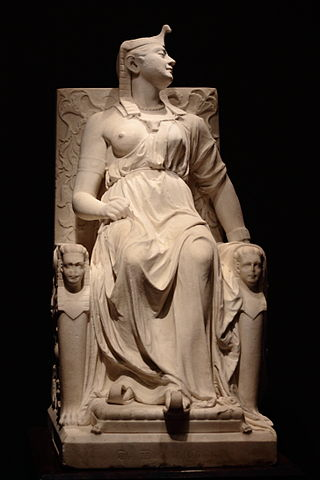 The Death of Cleopatra by Edmonia Lewis, c/o Wikimedia Commons.