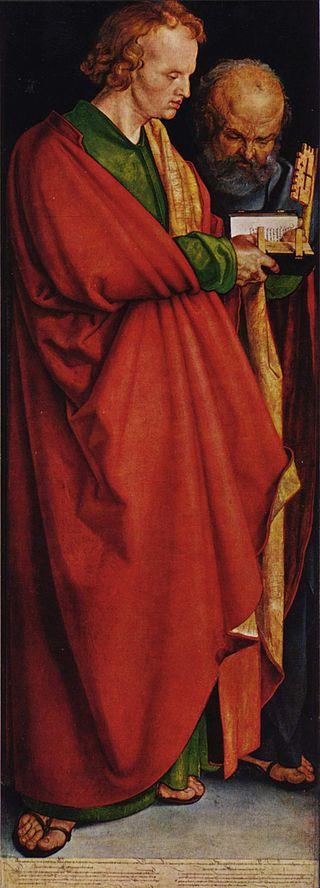 Dürer, The Four Apostles (inset).