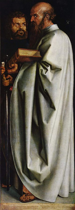 Dürer, Inset from The Four Apostles.
