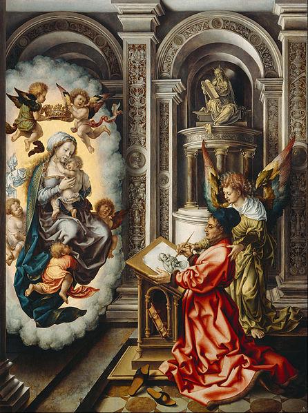 Gossaert, St. Luke Painting The Virgin.