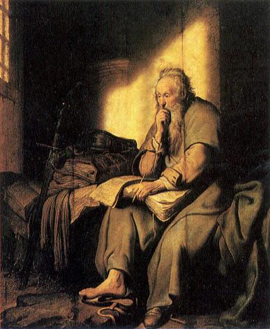 Rembrandt, Paul In Prison.