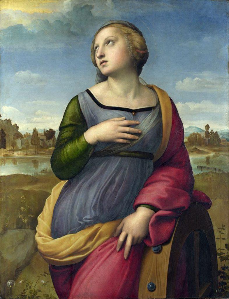 St. Catherine of Alexandria, Raphael.