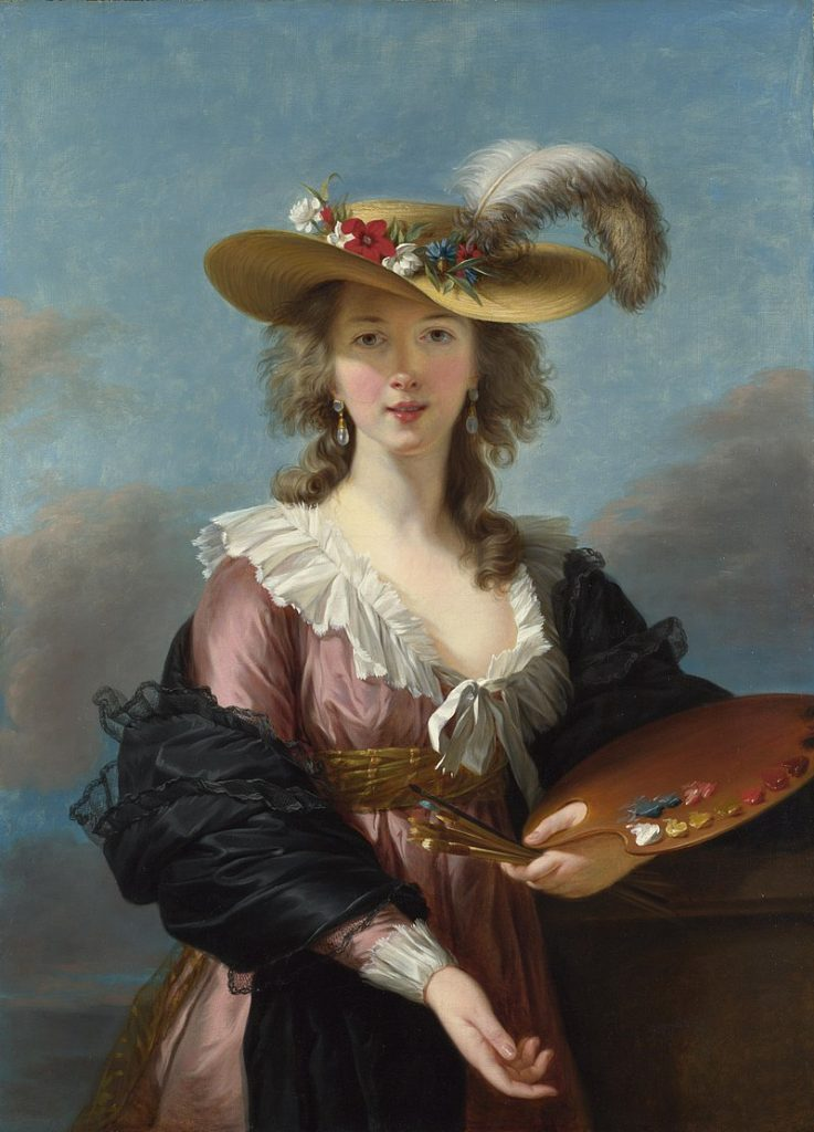 Self-Portrait in a Straw Hat by Élisabeth Louise Vigée Le Brun, c. 1782. Image c/o Wikimedia Commons.
