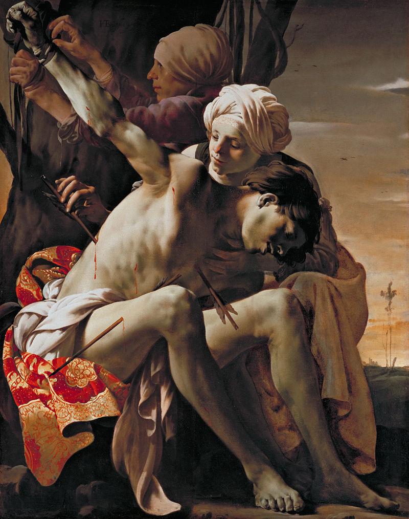 St. Sebastian Tended by St. Irene, ter Brugghen